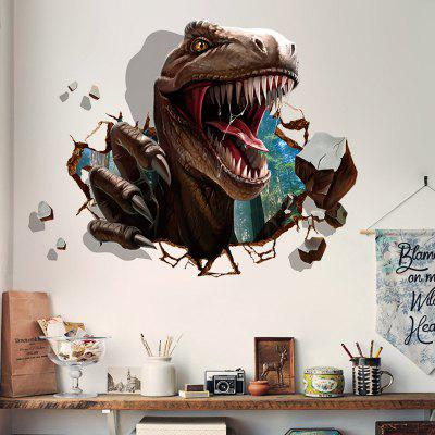 DIY Dinosaur Pattern Wall Sticker PVC Mural Waterproof Removable Decorative Painting Wallpaper
