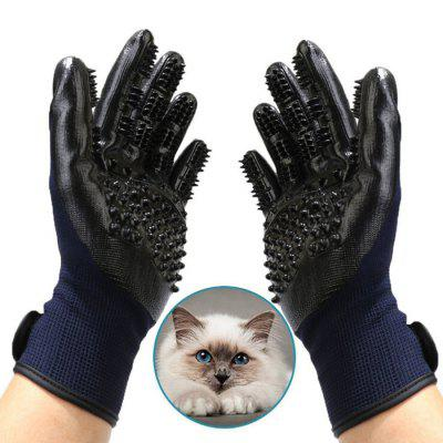 Pet Massage Grooming Handschoenen Dog and Cat ontharing Cleaning Glove Bath Brush Kam