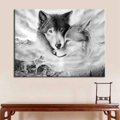 Wolf Pattern Print Waterproof Home Wall Decorative Painting
