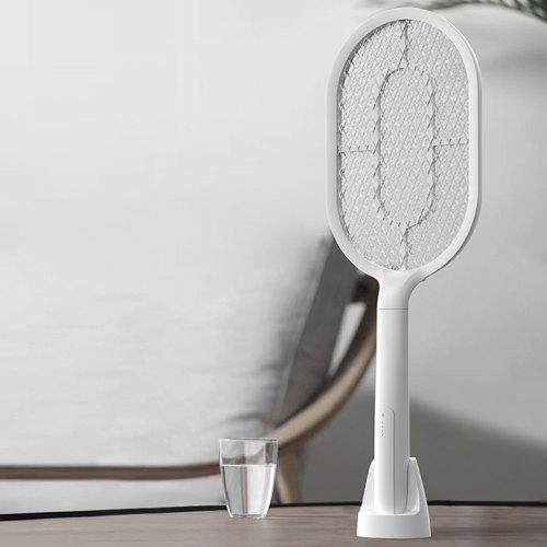 SW101 Handheld Electric Mosquito Killer Swatter USB Charging LED Head Lamp Effective anti-mosquito