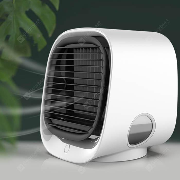 Air Cooler Air Conditioner Air Circulator Table Fan Mini Portable Hand-held Bladeless Cool Fan For Desktop Color : Pink Mini Electric Fan