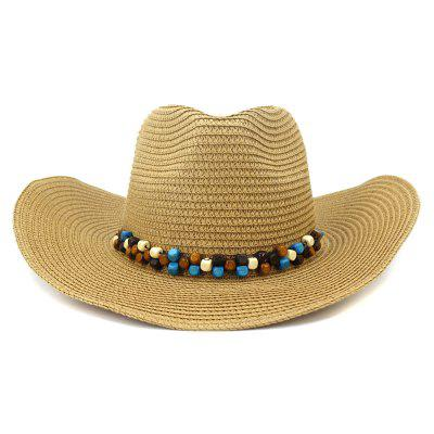 NZCM092 Cowboy Hat Seaside Beach Hat Muž Outdoor Sun Hat