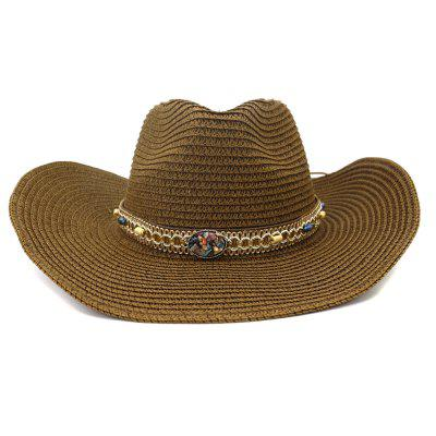 NZCM097 Cowboy Hat Outdoor Men Women Seaside Beach Hat Sun Hat