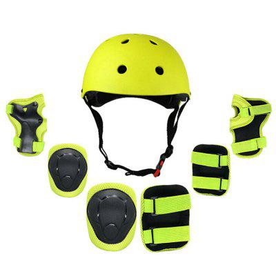 Adult Children Skating Protective Gear Skateboards Bicycle Helmet Kneepad Elbow Pad Palm Pad Balance Car Protector