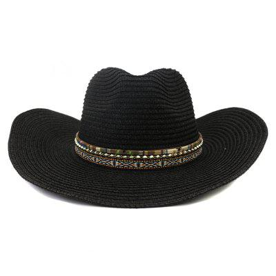 NZCM096 Cowboy Hat Man Outdoor zonnehoed Vrouw Beach Grote Brimmed zonnehoed