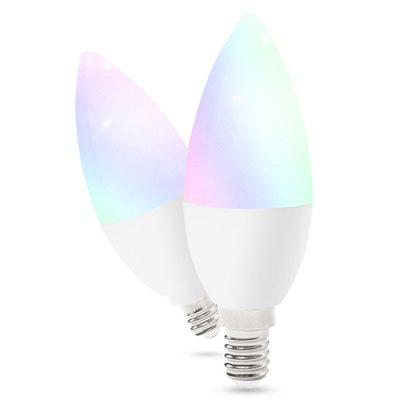 4W bulbo GLEDOPTO GL-B-001Z Zigbee ZLL RGB + WW / CW CCT APP Smart Control LED Candle Light