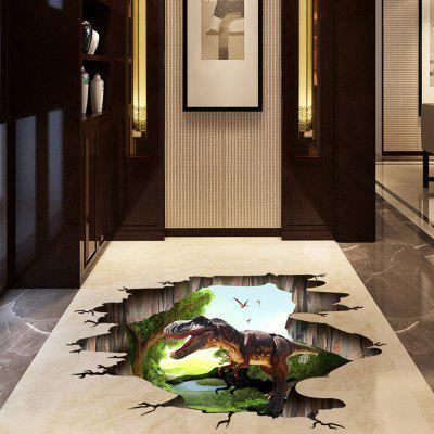 DIY Dinosaur Pattern Ground Sticker PVC Mural Waterproof Removable Decorative Painting Wall Stickers