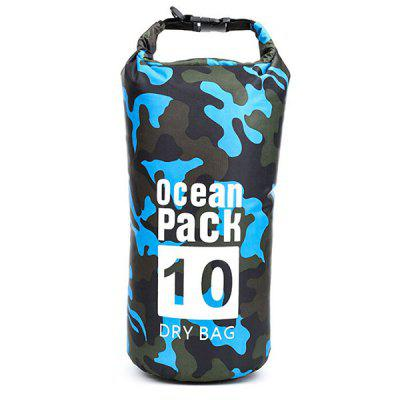 Outdoor Camouflage Pattern Portable Rafting Diving Dry Bag PVC Waterproof Folding Swimming Storage Bag for Trekking