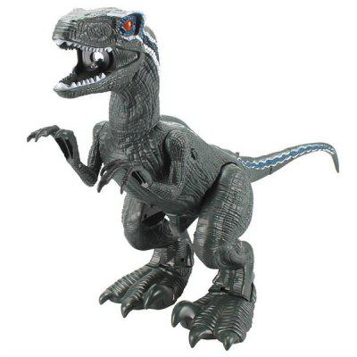 Electric Simulation Dinosaur Toy Spray Fire-breathing Velociraptor Simulation Model Toys