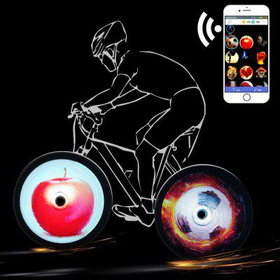 BRELONG Mobile DIY Programmable Hot Wheels Bicycle Riding Night Lamp Wheel Spokes