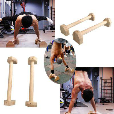 Fitness Push Ups Stand Sport Gym Exercise Training Borst H Shaped Houten Gymnastiek Handstand Parallel Double Rod