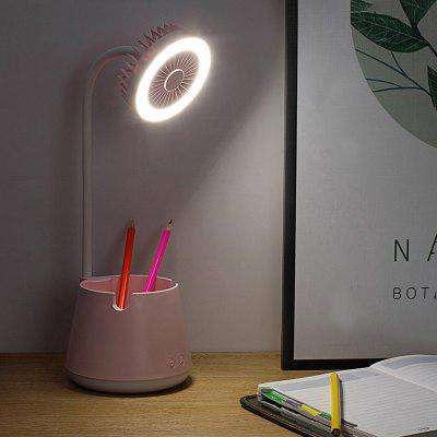 Brelong XA-09 Multifunctional Night Light Desk Lamp USB Fan with Pen Holder USB Mobile Phone Stand for Learning Read