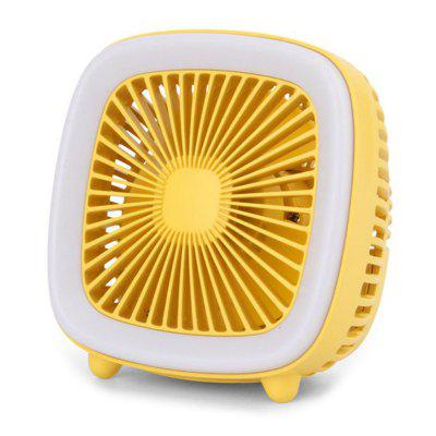 Retro TV Shape USB зарядка Mini Electronic Desktop вентилятор с Night Light