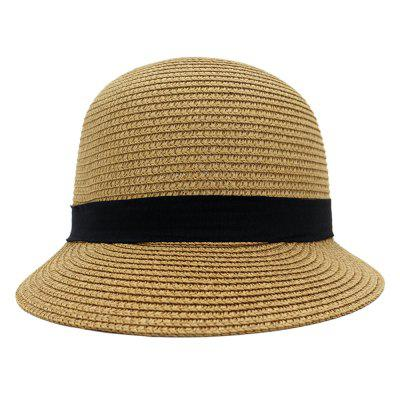 Spring Summer Male and Female Outdoor Travel Beach Sunscreen Cap Korean Equestrian Straw Hat