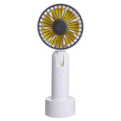F828 Mini Handheld Electronic Fan USB Charging Portable Desktop Rotating Small Cool Tool