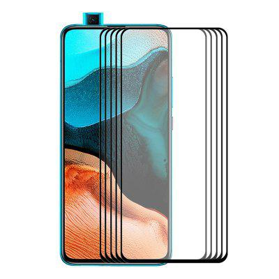ENKAY 9H 2.5D Tempered Glass Screen Protector Full-screen Protective Film for Redmi K30 / K30 Pro / Note 9 / Note 9 Pro 5pcs
