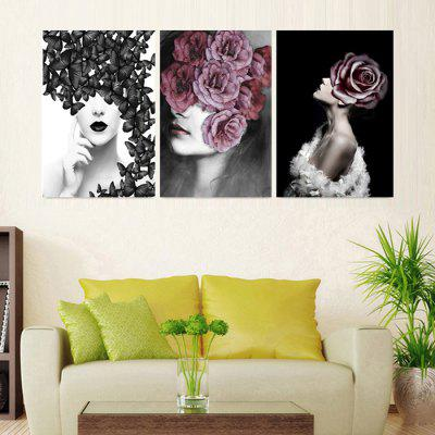 Home Printed Decoration Canvas Painting without Frame 40x60cm 3pcs