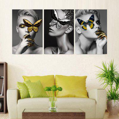 Home Precision Pictures Printed Decor Canvas Painting Without Frame 40x60cm 3pcs