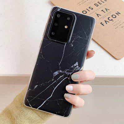 Marble Patterned Matte Mobile Phone Protective Case Cover for Samsung Galaxy S20 Ultra / S20 Plus / S20 / A51 / A71