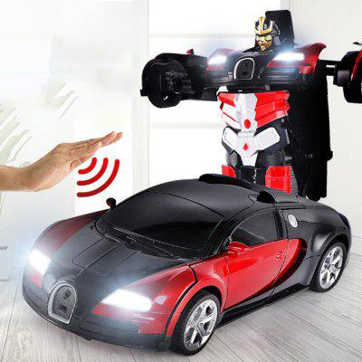 01:14 Electric zdalnego sterowania RC Gest Stunt Car Sensor Transformable Robot Toy