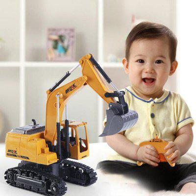 1:24 Eight-Channel Remote Control Alloy Excavator RC Engineering Car Toy