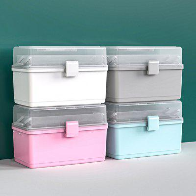 Portable Household Multi-use Medicine Storage Box First Aid Medical Bin Multilayer Large Capacity Cosmetics Gadget Organizing Boxes