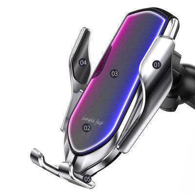R2 Car Wireless Charger Phone Holder Infrared Sensors Magic Clip Automatic Opening Closing Stand