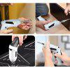 Portable 3.6V Electric Screwdriver Multi-function Rechargeable Drill 90-degree Rotation - WHITE