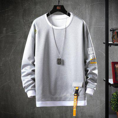 103C-W50 Men's Spring Autumn Solid Color Long-sleeved Sweatshirts