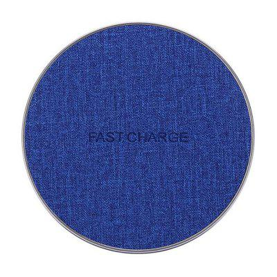 High Quality Fabric Fast Qi Wireless Charger Pad for iPhone Samsung Phone