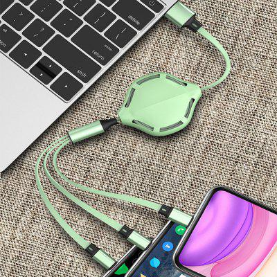 3 in 1 Universal Lightning Type-C Micro USB vloeibare siliconen Fast Charging Cable 3A