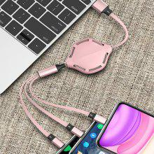 3 in 1 Universal Lightning Type-C Micro USB Liquid Silicone Fast Charging Cable 3A