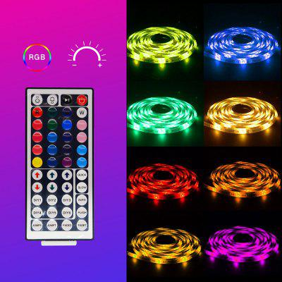 YX-05 Smart 3528 RGB Strip Lights 10M 600 Lamps IP65 Epoxy Waterproof with Power Supply 44-key Infrared Controller
