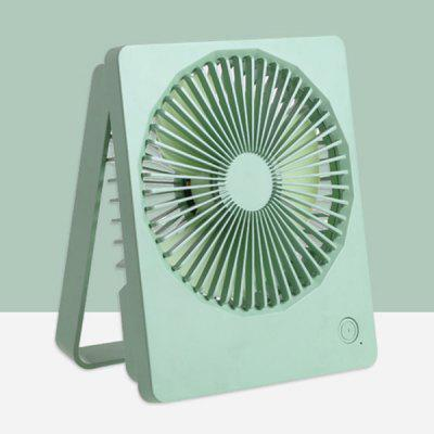 FC-6361 Portable Folding Electronic Fan USB Rechargeable with Night Light Ultra-thin