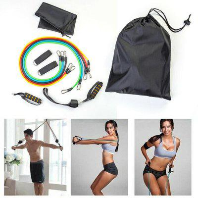 Gocomma Widerstandsbänder Schwere Training Übung Yoga Fitness Rohre Haus Training Gymnastik Training Elastisches Band 11Stk / Set
