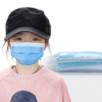 Kids 3 Ply Protective Disposable Mask Anti Dust Particulate PM2.5 Earloop Anti Spray Splash Proof Children Face Masks 50PCS