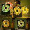 FC-6361 Portable Folding Electronic Fan USB Rechargeable with Night Light Ultra-thin - LIGHT GREEN
