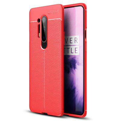 Asling Litchi Leather Phone Shell Case Cover voor OnePlus 8 Pro