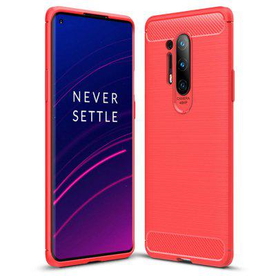 AISLING Carbon Fiber Series TPU Phone Shell Case Cover voor OnePlus 8 Pro