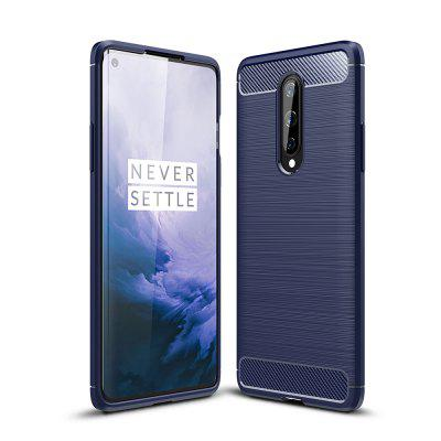 AISLING Carbon Fibers Series TPU Soft Phone Shell Hoesje voor OnePlus 8
