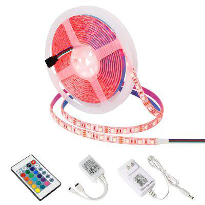 YX 24-5050 RGB LED Soft Light Strap 5M 300 LED IP65 Vodotesná 24-Key Infrared Controller