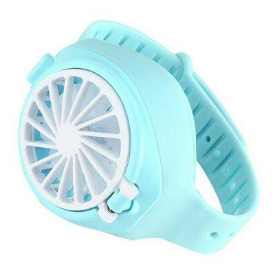 USB Charging Three Gears Adjustment Mini Hand-held Bracelet Electronic Fan for Children and Students