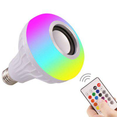 12W Smart Music Bulb LED Colorful Wireless Bluetooth Speaker Lamp E27 with Remote Control Audio Light 220V