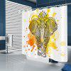 Ink Yellow Elephant μοτίβο αδιάβροχο Κουρτίνα Μπάνιου Διακόσμηση - Πολλαπλές