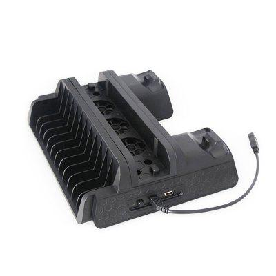 TP4-882 Multifunctional Cooling Fan Cooling Pad Base with Double Charge Port for PS4 / SLIM / PRO