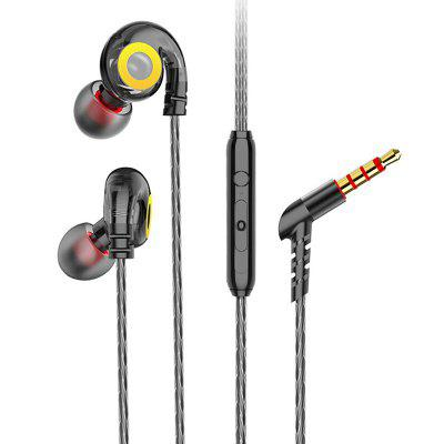3.5mm Music Game Earphones In-Ear Sports Wired Headphone 360 Degree Surrounded Sound Support Voice Calling