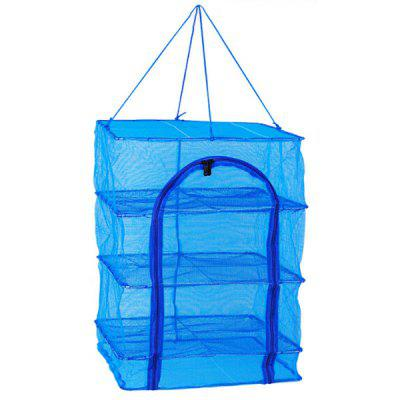 Folding Fishing Nets Drying Cage Square Fish Cage Dry Net Fishing Tackle