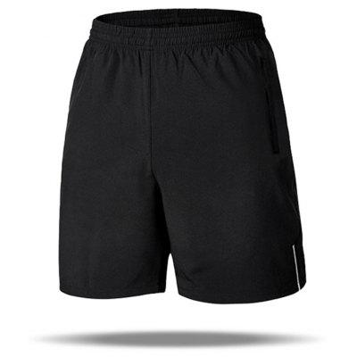 Man Sports Shorts Safety Reflective Design Solid Color Quick Dry Thin Fabric