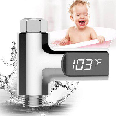 LED Display Shower Thermometer for Baby Care Home Water Shower Celsius Monitor Water Flow Self-Generating Electricity Shower Temperature Meter