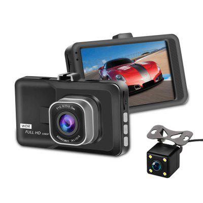 Car DVR Recorder 3 inch Large Display 1080P HD Dual Lens 160 degree Wide Angle